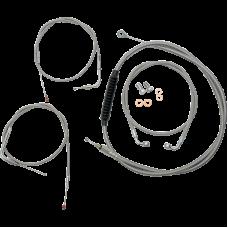 CABLE  LINE KIT STAINLESS STEEL 12-14  09-14 FLSTC/FXSTD/FLSTN/FLSTF  W/O ABS  0610-0347