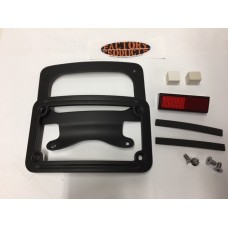 BLACK  LICENSE PLATE FRAME FITS 2009 & LATER  TOURING MODELS CURVED