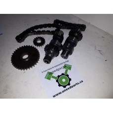 USED - twin cam 88ci - Chain Drive Cam kit with sprockets and chains - ID 1225