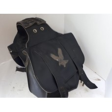 USED - Harley Throw over Saddle Bags - Soft leather - ID 1286