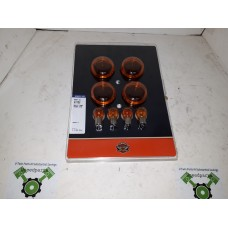 USED - Bullet sytle signal light lens - Amber with amber bulbs - ID 1467