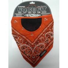 Schampa I-Tie Orange w/ Black Paisley