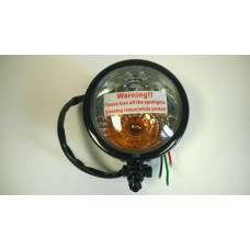 Factory Products, Chrome Satin Black Spot Light WITH Turn Signal