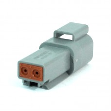 Deutsch Gray OEM Two Pin Receptacle