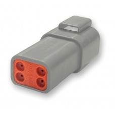 Deutsch Gray OEM Four Pin Receptacle