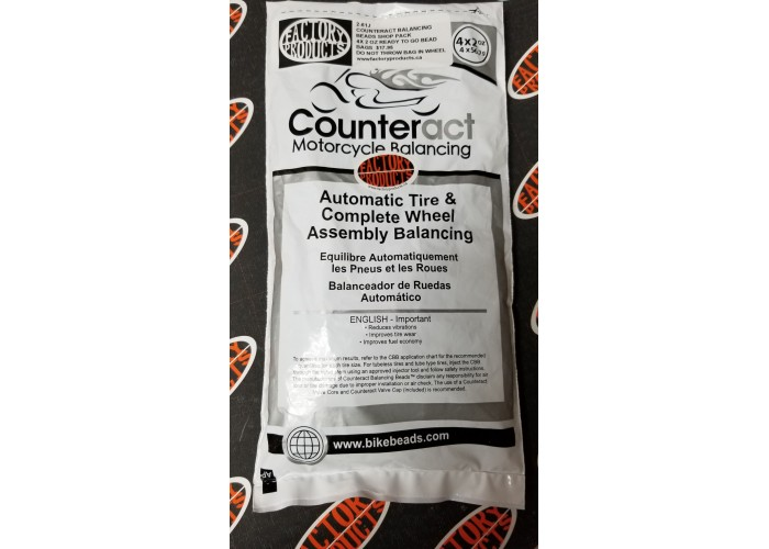 Factory Products, Counteract Internal Tire Balancing Beads 4x2 Refill Kit