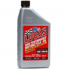 Six Pack of Lucas High Performance Synthetic Motorcycle Oil 10w-50