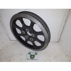 """USED - Rear Pulley Sprocket - 70T  1 1/8""""  Black and Natural - Softail 2000-05 - OEM 40306-00 - ID 2143"""