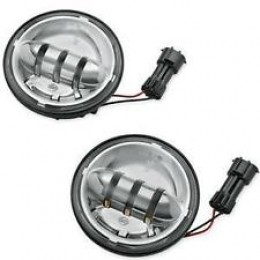 """Harley-Davidson OEM  4.5 """"  Daymaker Reflector LED Auxiliary Lamps, 68000075 - ID 1595"""