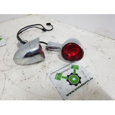 USED - Bullet style Rear Signal Lights - red - pair - ID 2257