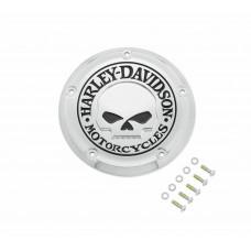 NEW GENUINE HARLEY-DAVIDSON - CHROME Willie G Skull Derby Cover OEM 25700958