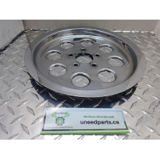 USED - 1995 FXWG Chrome Drive Pulley Cover - ID 2949
