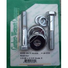 Factory Products, Chrome Handlebar Riser Bushing Bolt Set.