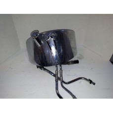USED - Softail - Oil Tank with Lines - Chrome - OEM 62498-00, 0439
