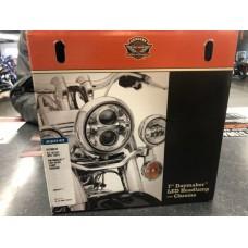 "Harley-Davidson OEM 7"" Daymaker LED Headlamp, Chrome, 67700243"