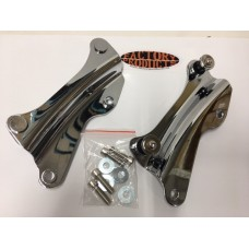 CHROME PLATED 4 POINT DOCKING HARDWARE KIT FOR ELECTRA GLIDE AND STREET GLIDE AND FLT 2014 & LATER