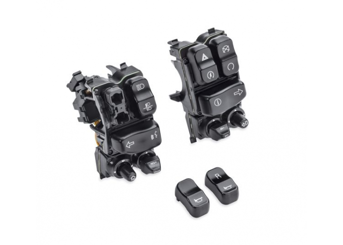 Harley-Davidson OEM  BLACK Lighted Hand Control Switches, Touring 2014, 71500248B - ID 1636