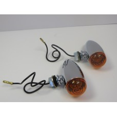 Factory Product, Chrome Bullet Smooth  Amber Lights