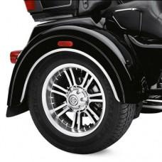 GENUINE HARLEY DAVIDSON CHROME WHEEL FENDER TRIM KIT '09-LTR Trike OEM 83812-09