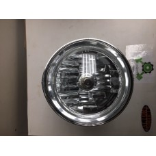"""Factory Products, Tribar 5 3/4"""" Clear, Chrome Plated Headlight. no tri/bar"""