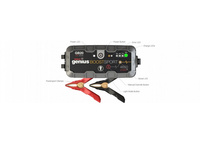 NOCO GB20 Sport UltraSafe Lithium Jump Starter / Charger 400 Amp