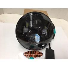 7 Inch Black LED Bat Wing Faring HeadLight