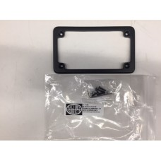 """ALUMINUM LICENSE PLATE FRAME COVER, 4"""" X 7"""",  BLACK WITH HARDWARE"""