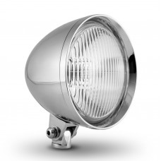 "Factory Products, Chrome Plated 5 3/4"" Chopper Headlight."