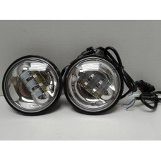 4.5 Inch Silver LED Spot Lights, Sold as a Pair