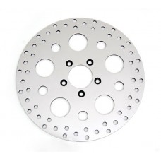 "Factory Products, OEM 11.5"" Rear Drilled Polished Rotor."