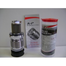 K&P. Chrome Plated, High Flow Reusable Oil Filter S4C.