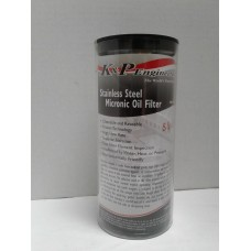 K&P, Stainless Steel, Reusable High Flow S9A Oil Filter.