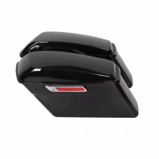 OEM STYLE STOCK REPLACEMENT SADDLEBAGS , ABS, BLACK
